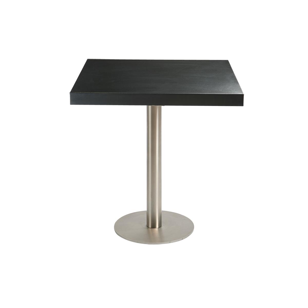 dieeventausstatter Sitztisch Modern Platte schwarz eckig