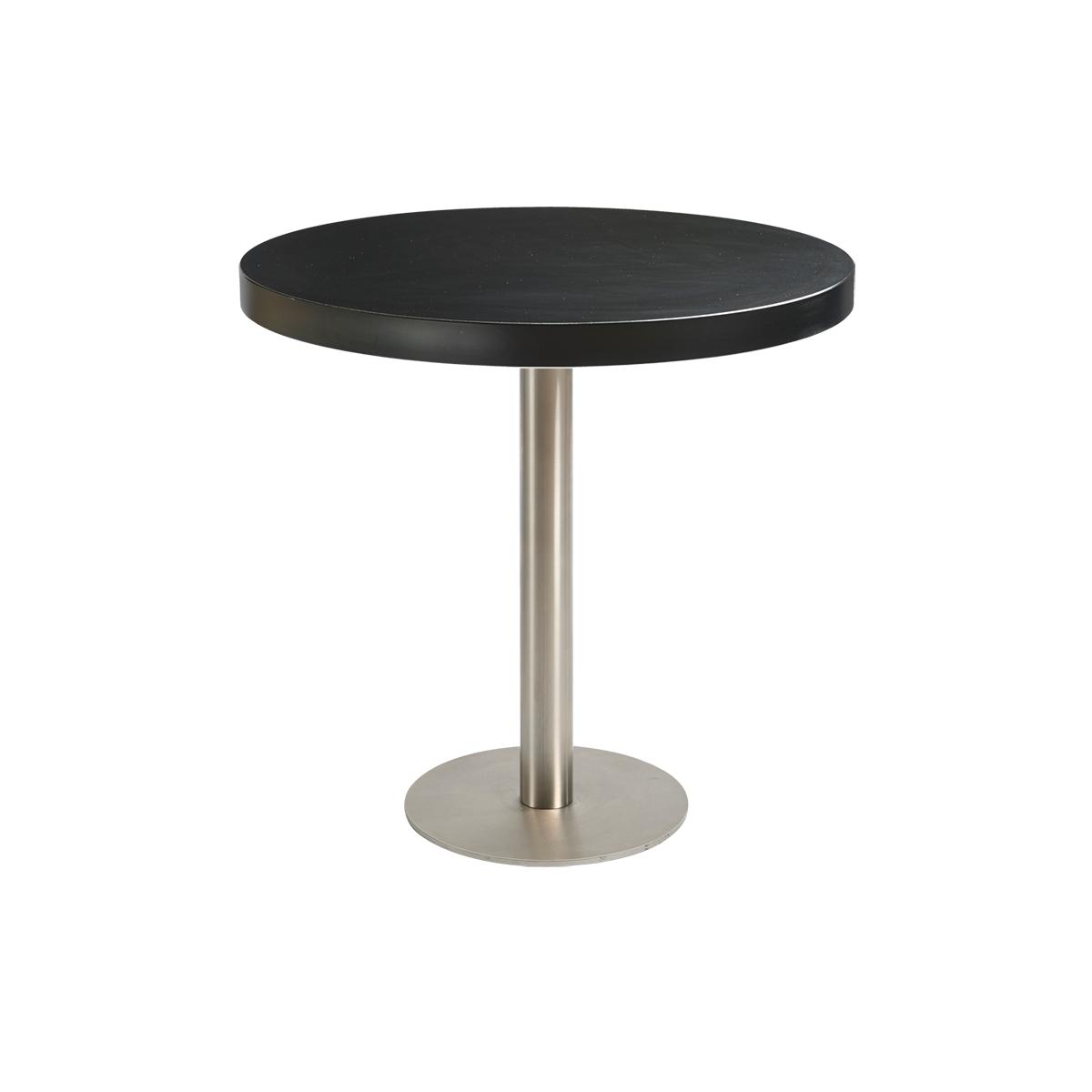 dieeventausstatter Sitztisch Modern Platte schwarz rund