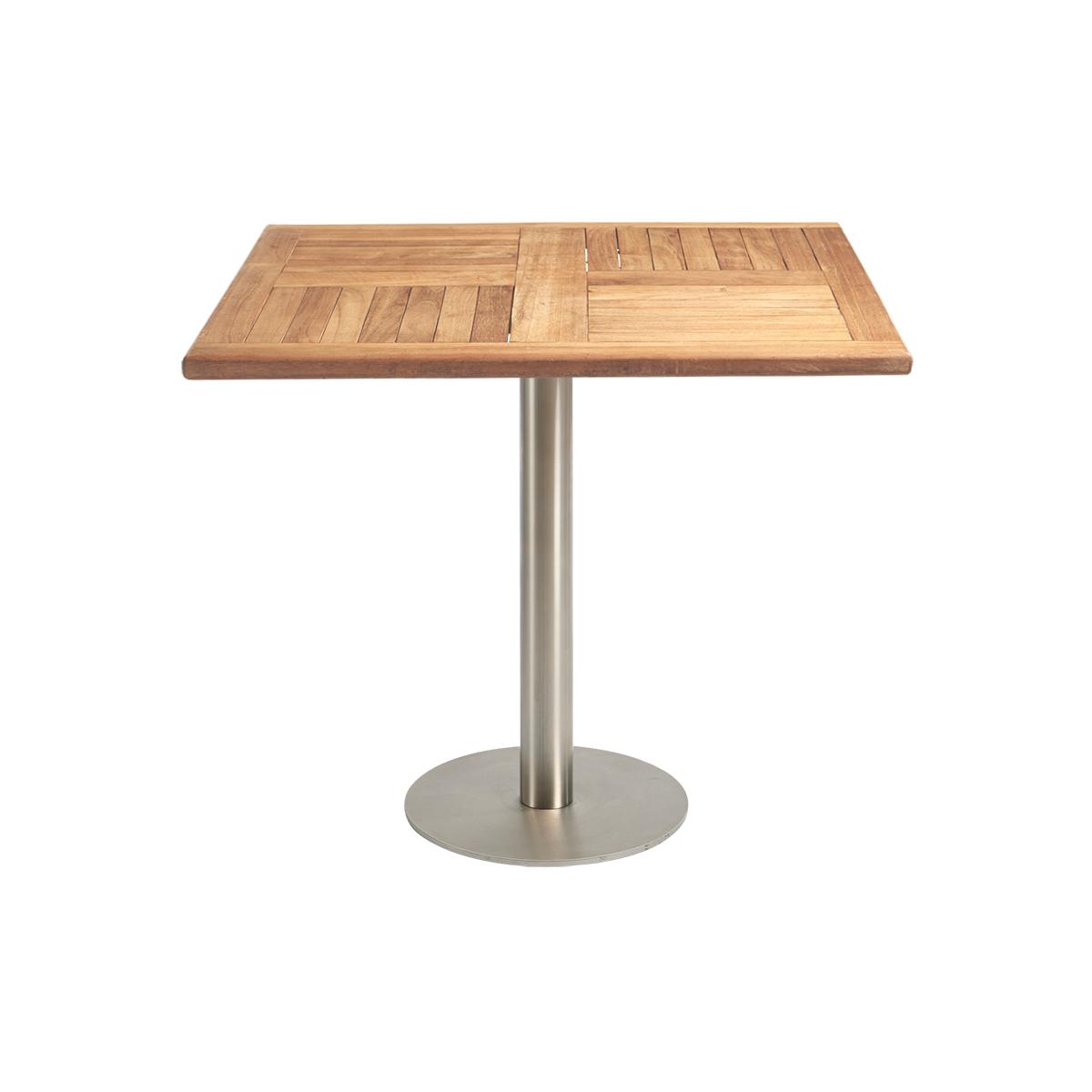 dieeventausstatter Sitztisch Modern Platte Teakholz eckig