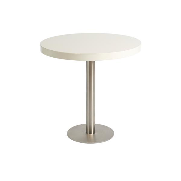 dieeventausstatter Sitztisch Modern Platte weiss rund