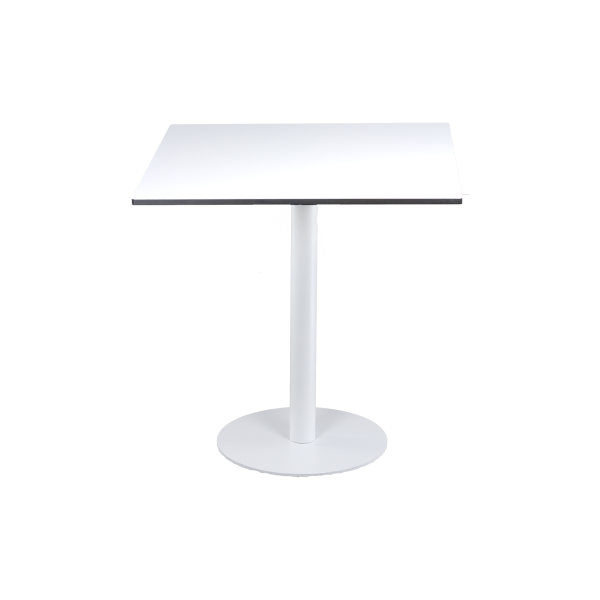 dieeventausstatter Sitztisch Modern black&white Platte outdoor weiss rund