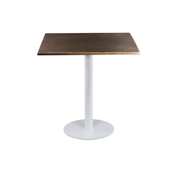 dieeventausstatter Sitztisch Modern black&white Platte Altholz eckig