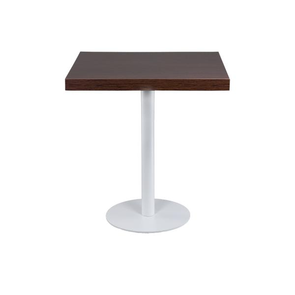 dieeventausstatter Sitztisch Modern black&white Platte braun eckig