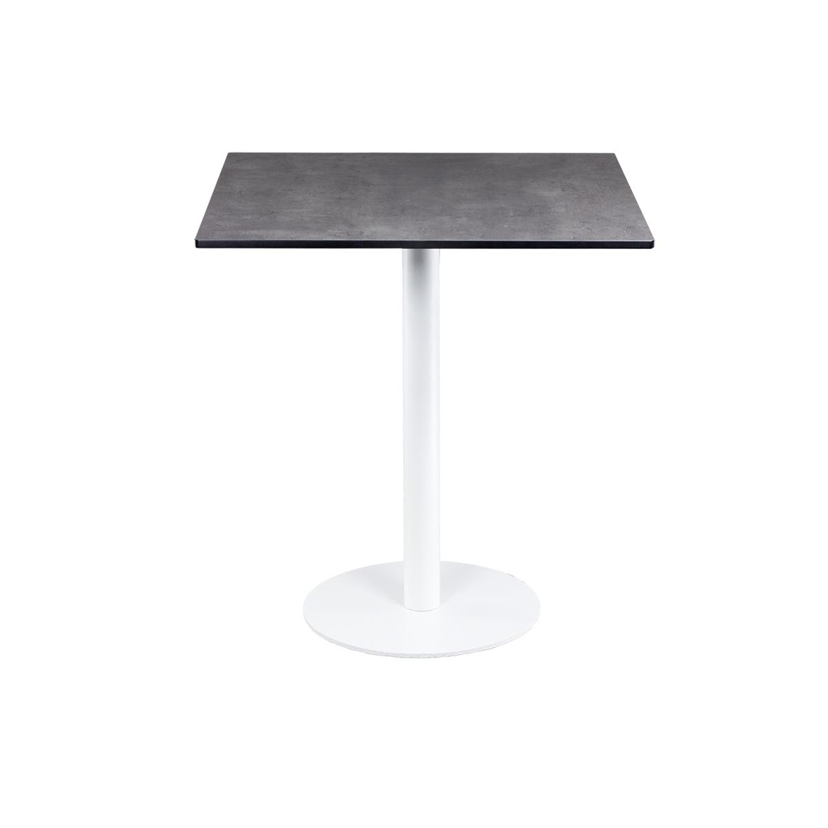 dieeventausstatter Sitztisch Modern black&white Platte outdoor Beton eckig