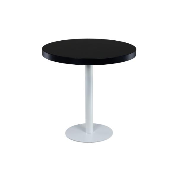 dieeventausstatter Sitztisch Modern black&white Platte schwarz rund