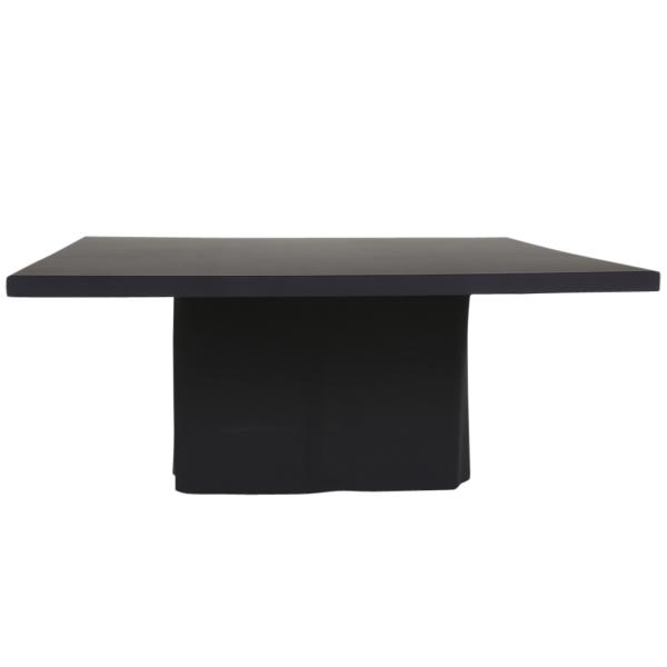 dieeventausstatter Tischbezug Banketttisch schwarz