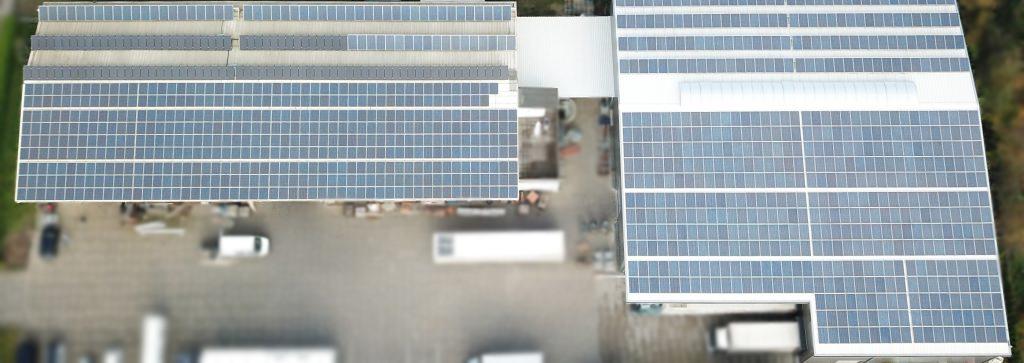 dieeventausstatter | Umwelt | PV-Anlage aus der Vogelperspektive